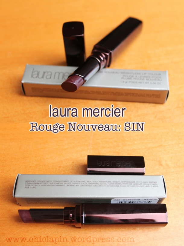 LAURA MERCIER Rouge Nouveau SIN, review pictures swatches. Reseña, fotos, opinion wwww.chiclapin.wordpress.com