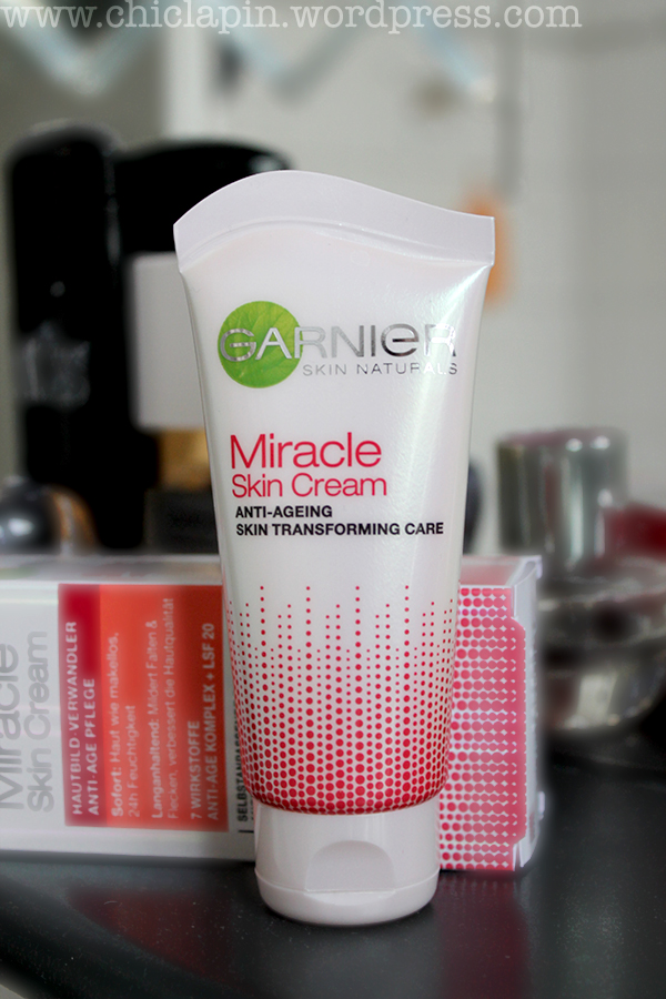 Garnier Miracle Skin Cream Anti ageing Transforming Skin Care BB Cream Tinted Moisturiser review pictures swatches, reseña fotos opinion English Español www.chiclapin.wordpress.com product B
