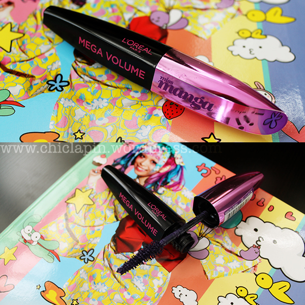 NEW L'Oreal Mega Volume Miss Manga Mascara {Violet} Review reseña fotos swatches www.chiclapin.wordpress.com a